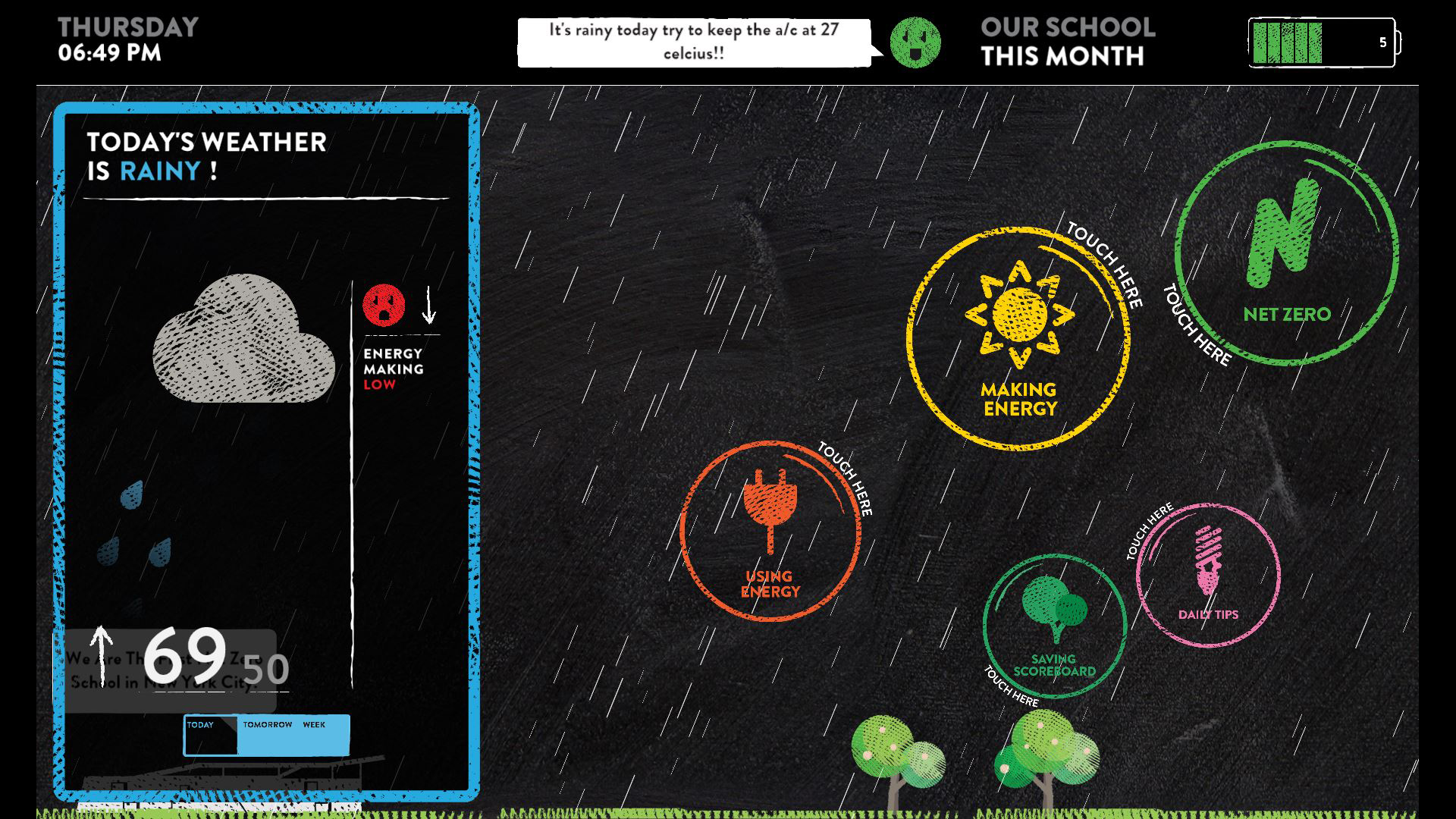 visualization app for kathleen grimm school for leadership and sustainability